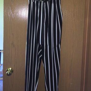 Striped H&M pants
